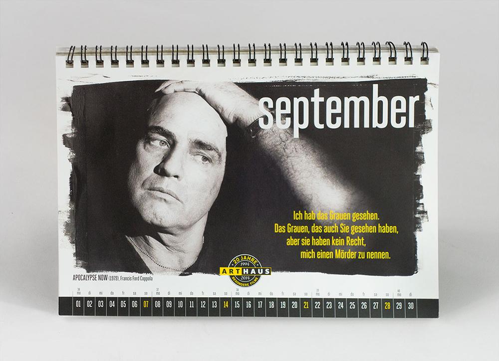 Arthaus Film Kalender Grafik